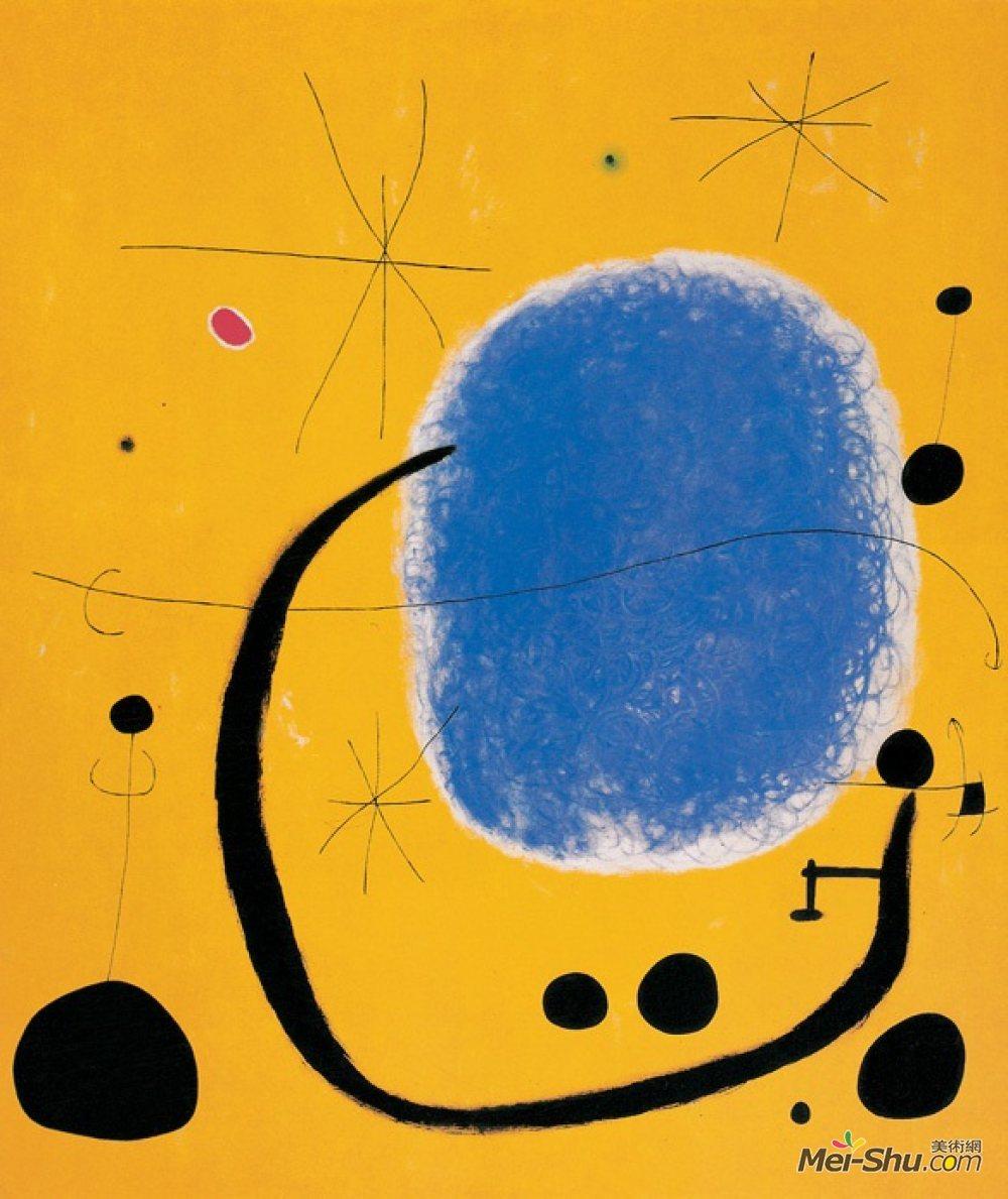 《蔚蓝的金色》米罗作品欣赏高清