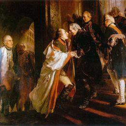 阿道夫·門采爾(Adolph Menzel)高清作品:Begegngung mit Kaiser Joseph II in Nei&amp?e