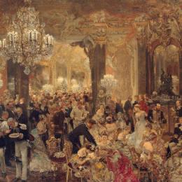 《舞會上的晚餐》阿道夫·門采爾(Adolph Menzel)高清作品欣賞