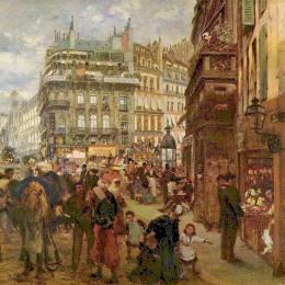 《巴黎的工作日》阿道夫·門采爾(Adolph Menzel)高清作品欣賞