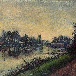 《景觀鎖》艾伯特杜布瓦皮雷(Albert Dubois-Pillet)高清作品欣賞