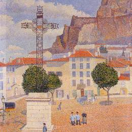 《小便。陽光廣場》艾伯特杜布瓦皮雷(Albert Dubois-Pillet)高清作品欣賞