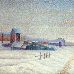 《冬季景觀》艾伯特杜布瓦皮雷(Albert Dubois-Pillet)高清作品欣賞