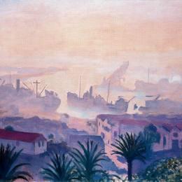 《霧霾中的阿爾及爾港》阿爾貝·馬爾凱(Albert Marquet)高清作品欣賞