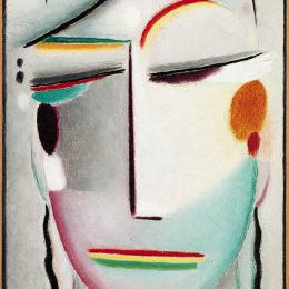 《救世主的面孔:遙遠的國王 - 佛陀二世》阿歷克謝·馮·亞夫倫斯基(Alexej von Jawlensky)高清作品欣賞