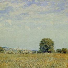 《圣云的田野》阿爾弗萊德·西斯萊(Alfred Sisley)高清作品欣賞