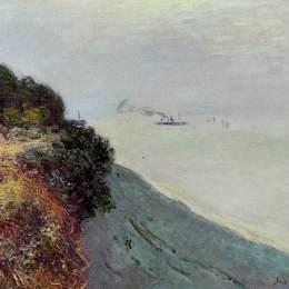 《英國海岸,珀納斯》阿爾弗萊德·西斯萊(Alfred Sisley)高清作品欣賞