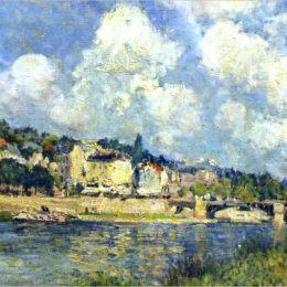 《圣云河》阿爾弗萊德·西斯萊(Alfred Sisley)高清作品欣賞