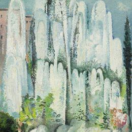 《在羅馬花園的噴泉》愛麗絲貝利(Alice Bailly)高清作品欣賞