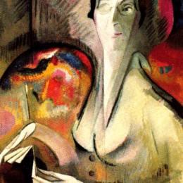 《自畫像》愛麗絲貝利(Alice Bailly)高清作品欣賞