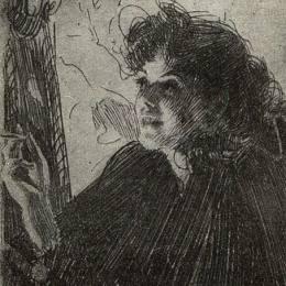 《吸煙婦女》安德斯·左恩(Anders Zorn)高清作品欣賞