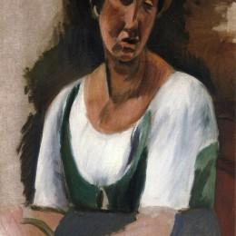 《一個女人的半身像》安德烈·德朗(Andre Derain)高清作品欣賞