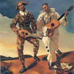 《丑角和皮埃羅》安德烈·德朗(Andre Derain)高清作品欣賞