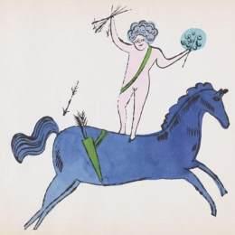 《天使與馬》安迪·沃霍爾(Andy Warhol)高清作品欣賞