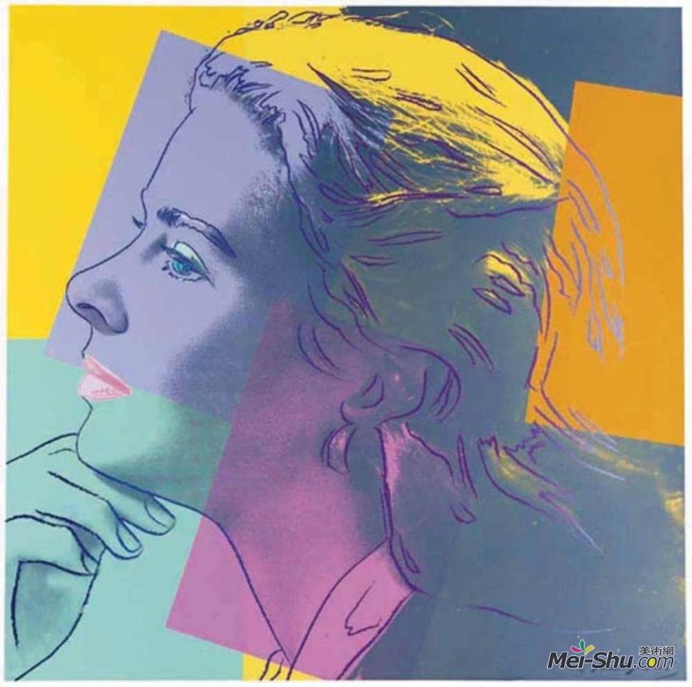 安迪·沃霍尔(Andy Warhol)高清作品《Ingrid Bergman (as Herself)》