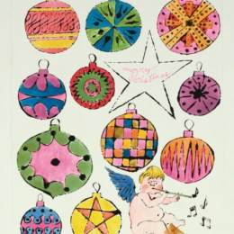 《仙女與圣誕飾品》安迪·沃霍爾(Andy Warhol)高清作品欣賞