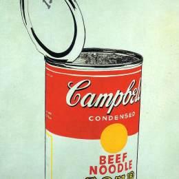 安迪·沃霍爾(Andy Warhol)高清作品:Big Campbells Soup Can 19c (Beef Noodle)