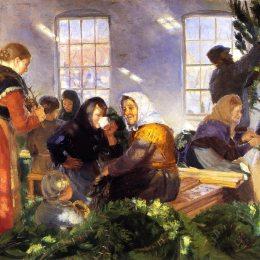 《在皇家的訪問》安娜·安徹(Anna Ancher)高清作品欣賞