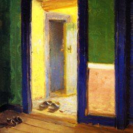 《晚餐時間》安娜·安徹(Anna Ancher)高清作品欣賞