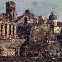 《意大利城鎮觀》安東尼奧·曼奇尼(Antonio Mancini)高清作品欣賞