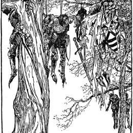 《紅衣騎士的犧牲品》亞瑟·拉克姆(Arthur Rackham)高清作品欣賞