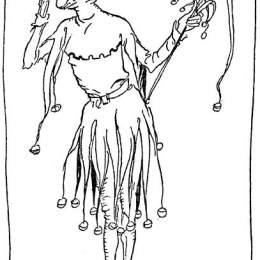 《特里斯坦扮成小丑來到廷塔杰爾》亞瑟·拉克姆(Arthur Rackham)高清作品欣賞