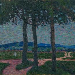 亞瑟西格爾(Arthur Segal)高清作品:Weg nach Kynwasser (Riesengebirge)