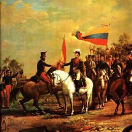 《將旗幟交給無名的營》阿圖羅·米切萊納(Arturo Michelena)高清作品欣賞