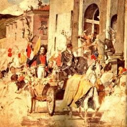 《解放者抵達舊金山圣殿》阿圖羅·米切萊納(Arturo Michelena)高清作品欣賞