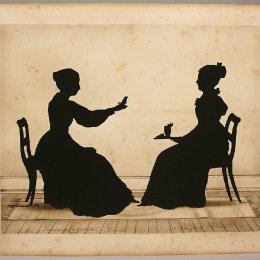 奧古斯特·愛德華(Auguste Edouart)高清作品:Lucinda Carpenter, Tweeter and Abigail Forrester
