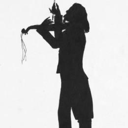 奧古斯特·愛德華(Auguste Edouart)高清作品:Niccol&ampò Paganini
