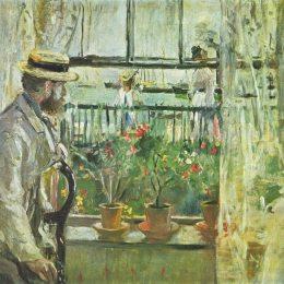 《尤金馬奈在懷特島》貝爾特·摩里索特(Berthe Morisot)高清作品欣賞
