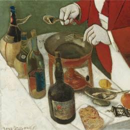 《煎餅。二尖瓣》鮑里斯·格里戈里耶夫(Boris Grigoriev)高清作品欣賞