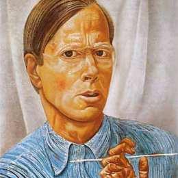 《自畫像》鮑里斯·格里戈里耶夫(Boris Grigoriev)高清作品欣賞