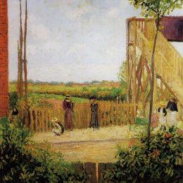 《貝德福德公園1號鐵路橋》卡米耶·畢沙羅(Camille Pissarro)高清作品欣賞