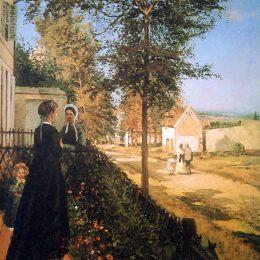 《凡爾賽路》卡米耶·畢沙羅(Camille Pissarro)高清作品欣賞