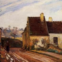 《奧斯尼附近倒塌的小屋》卡米耶·畢沙羅(Camille Pissarro)高清作品欣賞