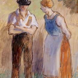 《兩農民》卡米耶·畢沙羅(Camille Pissarro)高清作品欣賞