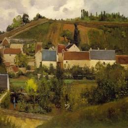 卡米耶·畢沙羅(Camille Pissarro)高清作品:View of lHermitage, Jallais Hills, Pontoise