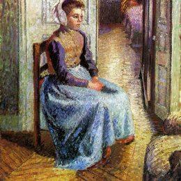 《年輕的佛蘭芒女仆》卡米耶·畢沙羅(Camille Pissarro)高清作品欣賞