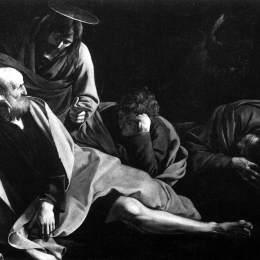 《基督在橄欖山上》卡拉瓦喬(Caravaggio)高清作品欣賞