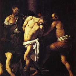 《耶穌基督鞭笞》卡拉瓦喬(Caravaggio)高清作品欣賞