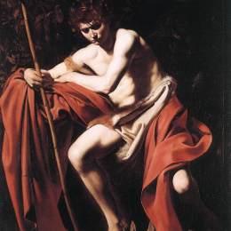 《施洗約翰》卡拉瓦喬(Caravaggio)高清作品欣賞