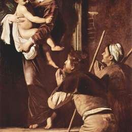 《洛里托圣母瑪利亞》卡拉瓦喬(Caravaggio)高清作品欣賞