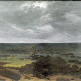 《海岸風光》卡斯珀爾·大衛·弗里德里希(Caspar David Friedrich)高清作品欣賞