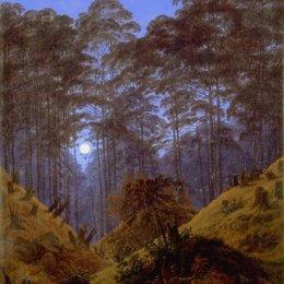 《月光下的森林里》卡斯珀爾·大衛·弗里德里希(Caspar David Friedrich)高清作品欣賞