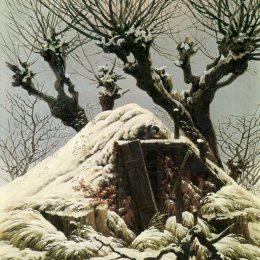 《雪中的樹》卡斯珀爾·大衛·弗里德里希(Caspar David Friedrich)高清作品欣賞