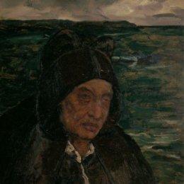 《布列塔尼老婦人》查爾斯·科泰(Charles Cottet)高清作品欣賞
