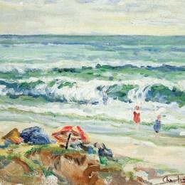 《德爾馬爾海灘》查爾斯·賴費爾(Charles Reiffel)高清作品欣賞