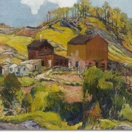 《丘陵山地住宅》查爾斯·賴費爾(Charles Reiffel)高清作品欣賞